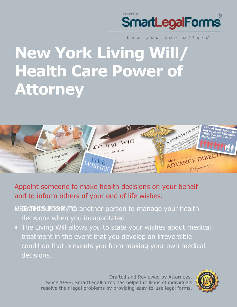 New York Living Will/Health Care Power of Attorney - SmartLegalForms