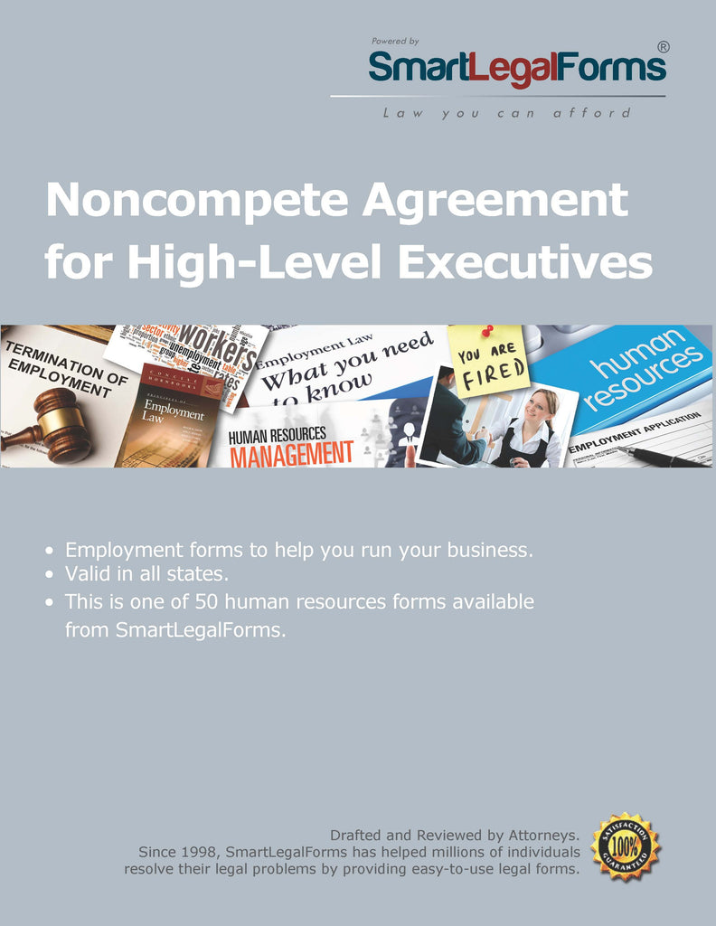 Noncompete Agreement for High-Level Executives - SmartLegalForms