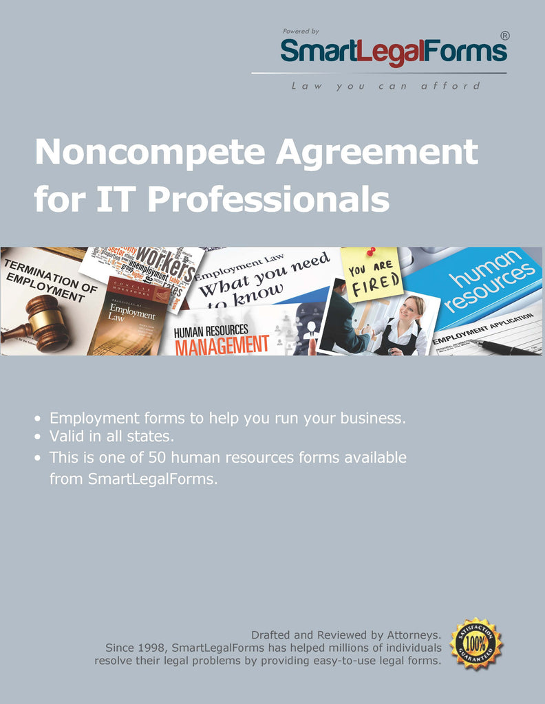 Noncompete Agreement for IT Professionals - SmartLegalForms