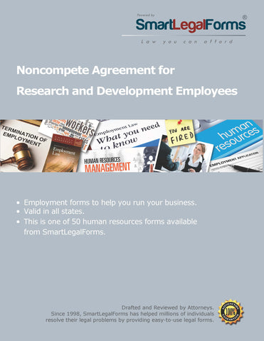 Noncompete Agreement for Research and Development Employees - SmartLegalForms