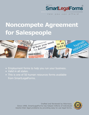 Noncompete Agreement for Salespeople - SmartLegalForms