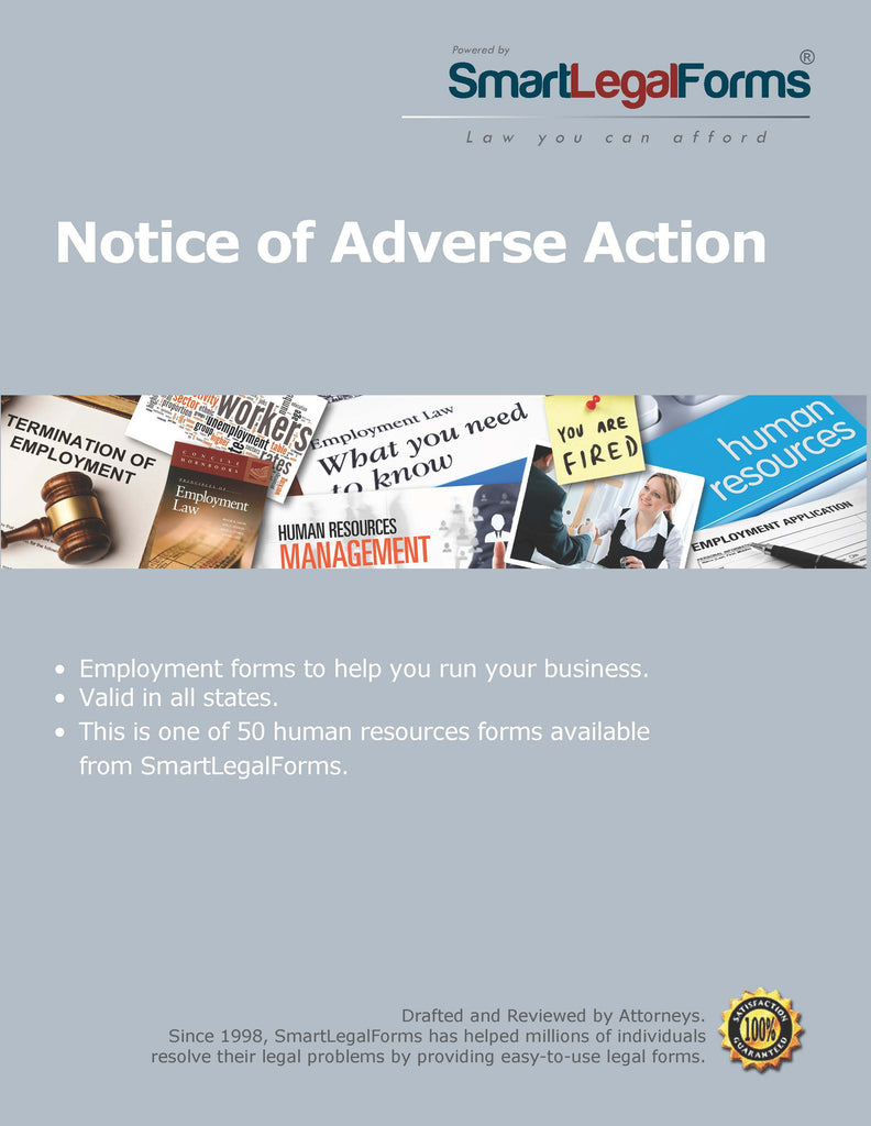 Notice of Adverse Action - SmartLegalForms