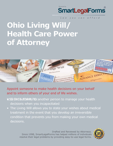 Ohio Living Will/Health Care Power of Attorney - SmartLegalForms