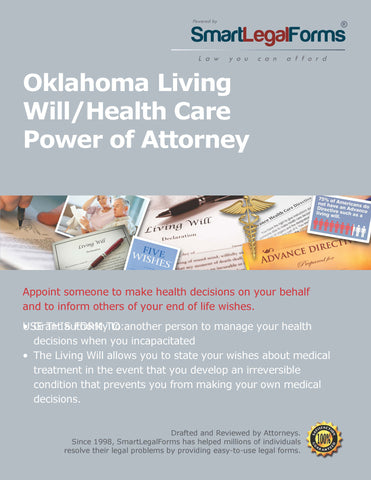 Oklahoma Living Will/Health Care Power of Attorney - SmartLegalForms
