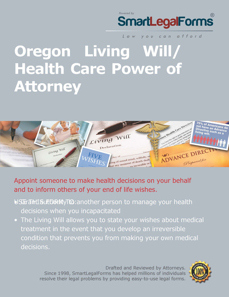 Oregon Living WillHealth Care Power Of Attorney SmartLegalForms - Legal forms oregon