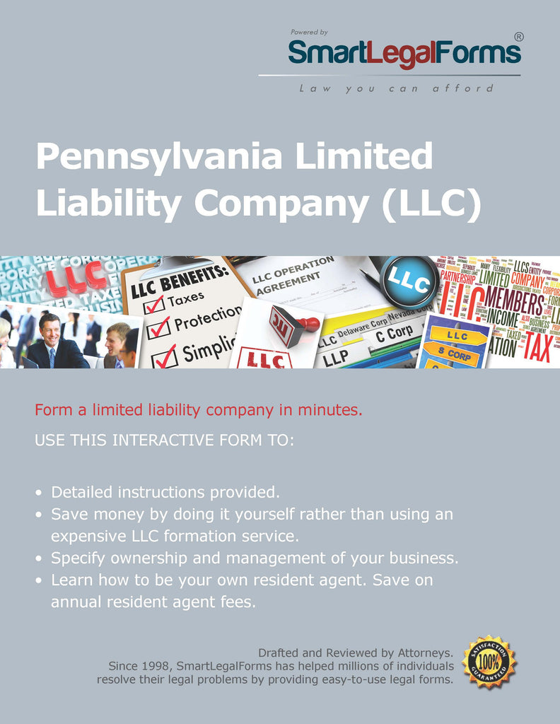 Certificate of Organization (LLC) - Pennsylvania - SmartLegalForms