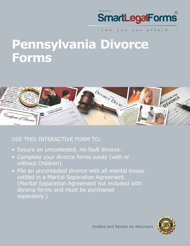 Pennsylvania Divorce Forms - SmartLegalForms