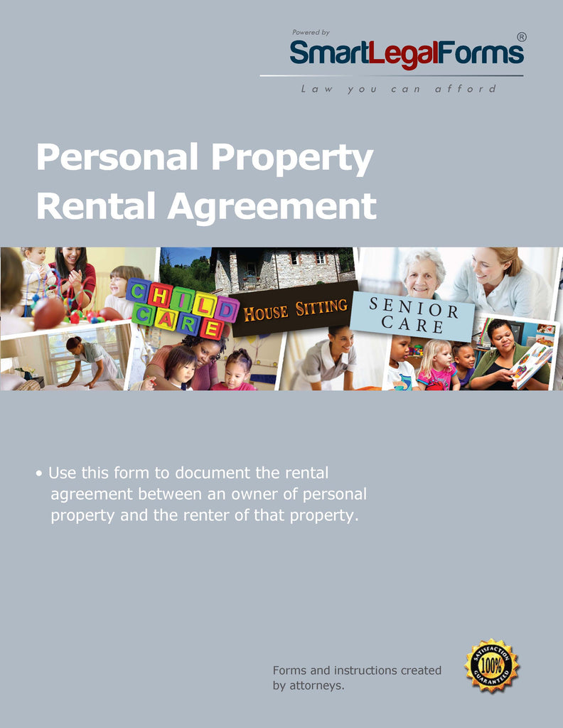 Personal Property Rental Agreement - SmartLegalForms