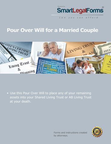 Pour Over Will for a Married Couple - SmartLegalForms