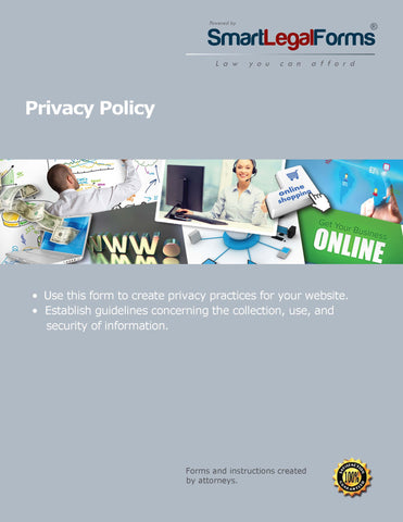 Privacy Policy for a Consumer Web Site - SmartLegalForms