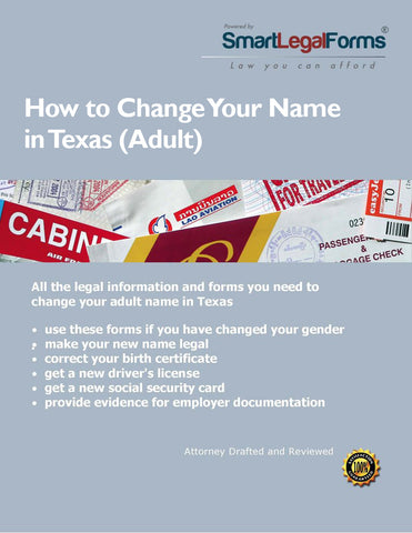 Texas Name Change (Adult)