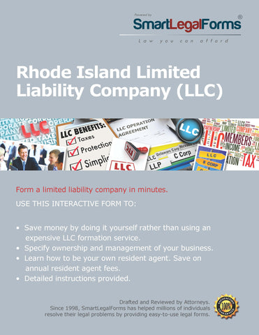 Articles of Organization (LLC) - Rhode Island - SmartLegalForms