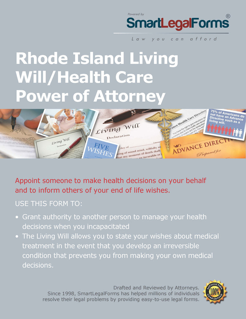 Rhode Island Living Will/Health Care Power of Attorney - SmartLegalForms