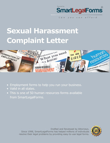 Sexual Harassment Complaint Letter - SmartLegalForms