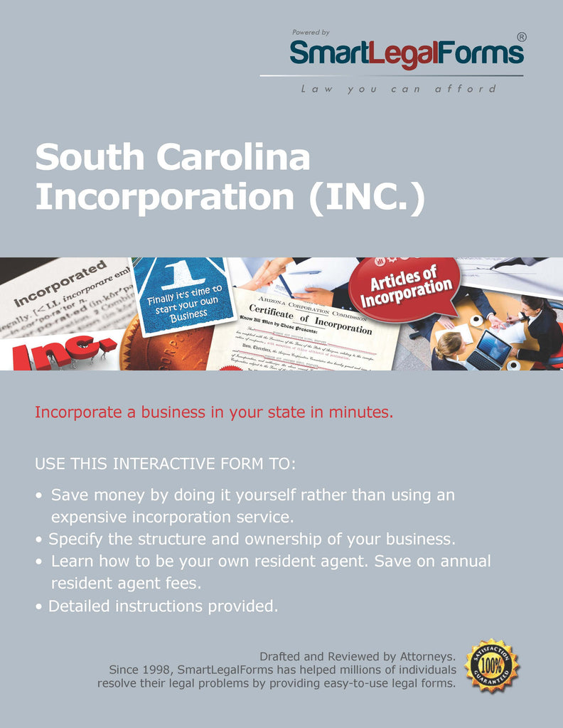Articles of Incorporation (Profit) - South Carolina - SmartLegalForms