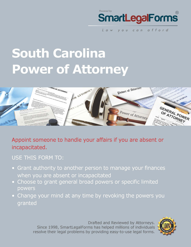 Power of Attorney - South Carolina - SmartLegalForms