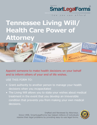 Tennessee Living Will/Health Care Power of Attorney - SmartLegalForms