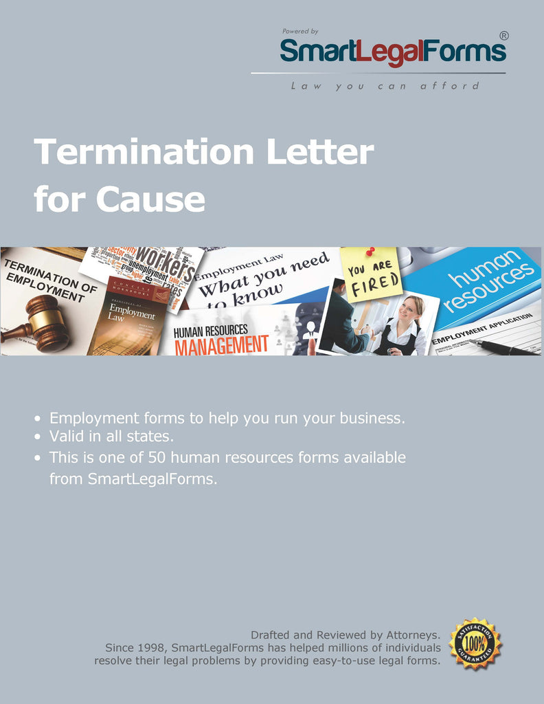 Termination Letter for Cause - SmartLegalForms