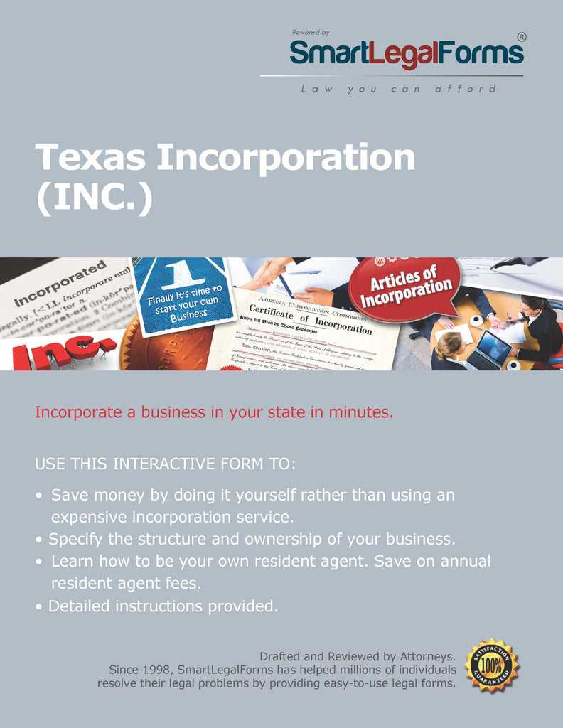 Articles of Incorporation - Texas - SmartLegalForms