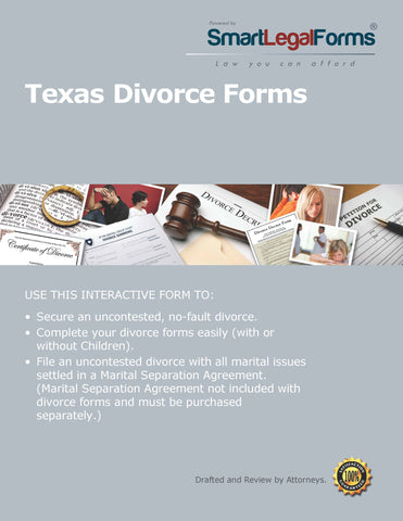 Texas Divorce Forms - SmartLegalForms