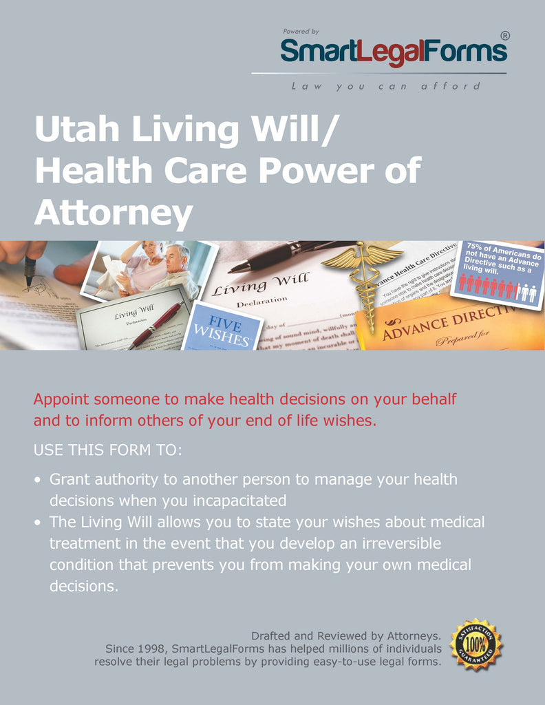 Utah Living Will/Health Care Power of Attorney - SmartLegalForms