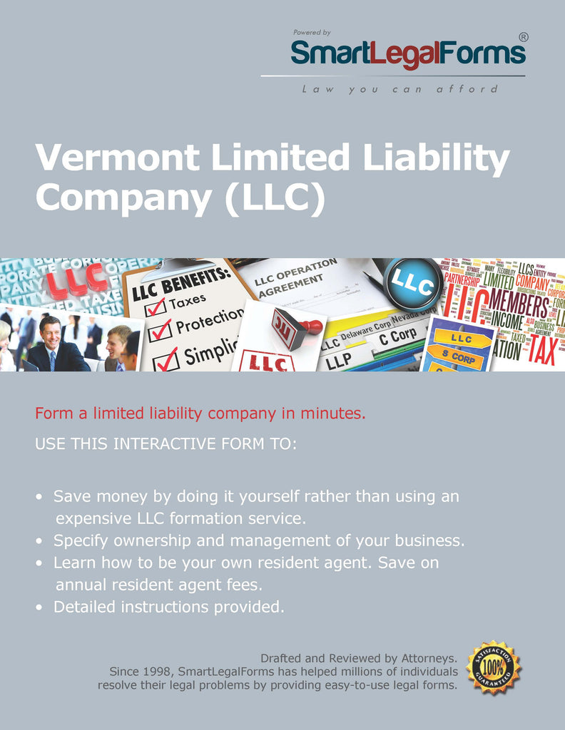 Articles of Organization (LLC) - Vermont - SmartLegalForms