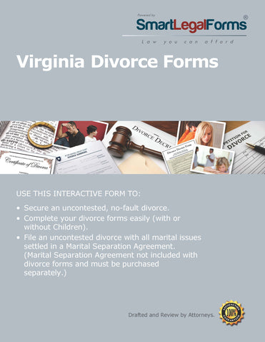 Virginia Divorce Forms - SmartLegalForms