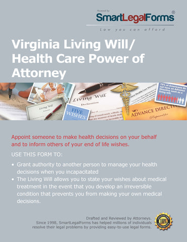 Virginia Living Will/Health Care Power of Attorney - SmartLegalForms