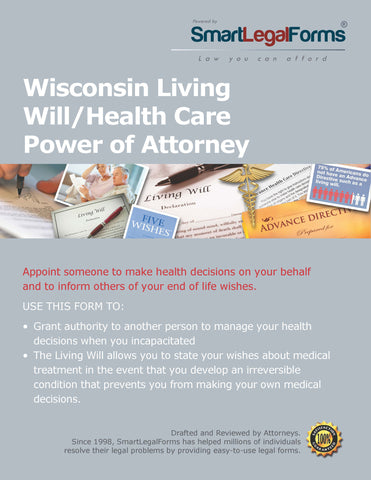 Wisconsin Living Will/Health Care Power of Attorney - SmartLegalForms