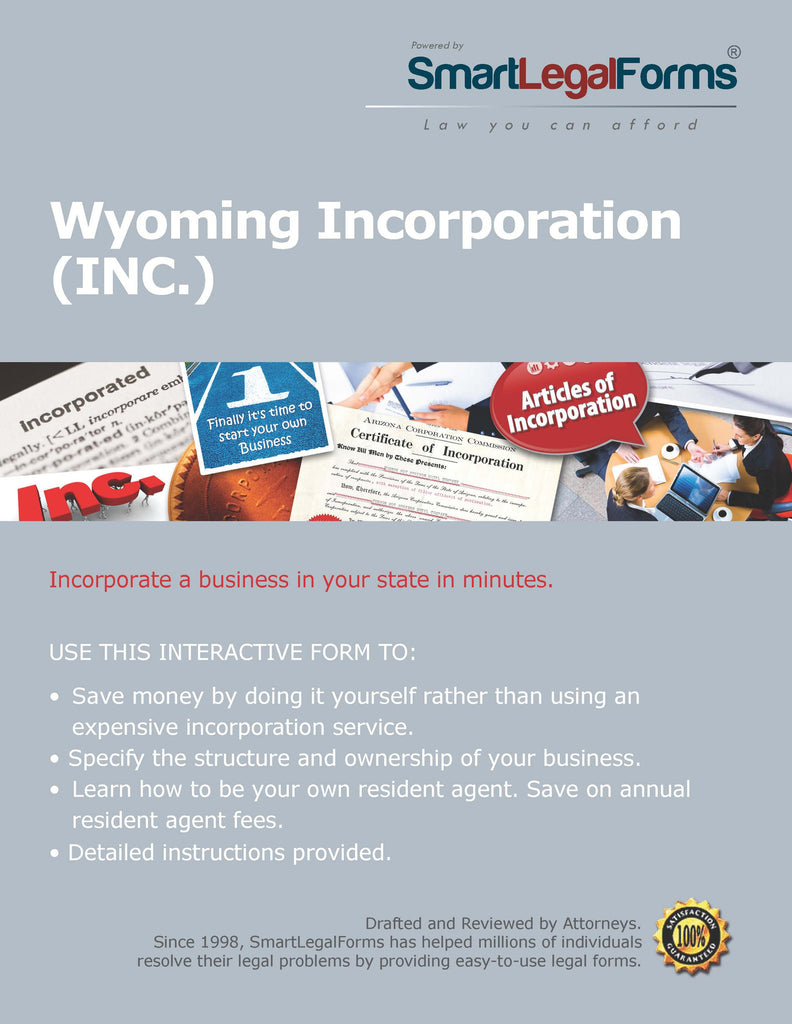 Articles of Incorporation (Profit) - Wyoming - SmartLegalForms