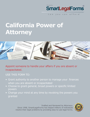 Power of Attorney  - California - SmartLegalForms