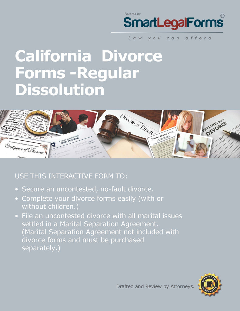 California Divorce Forms - SmartLegalForms