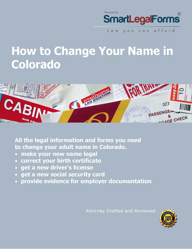 Change Your Name in Colorado (Minor) - SmartLegalForms