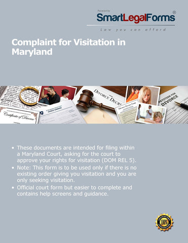 Maryland Complaint for Visitation - SmartLegalForms
