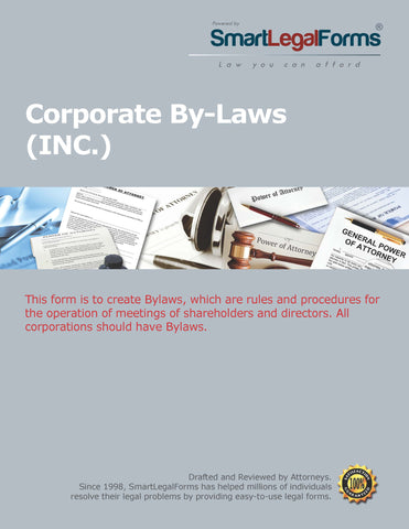 Corporate Bylaws - SmartLegalForms