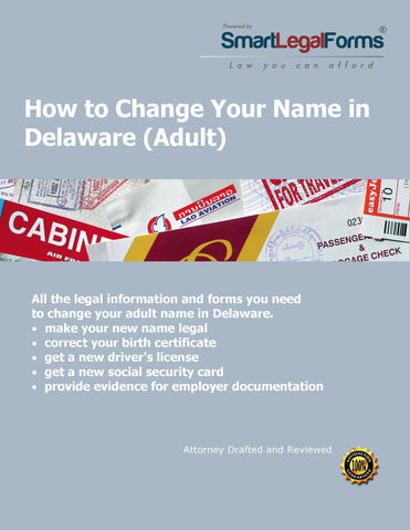 Change Your Name in Delaware (Adult) - SmartLegalForms