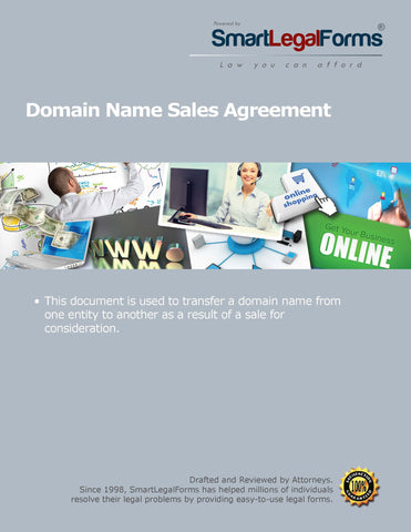 Domain Name Sales Agreement - SmartLegalForms