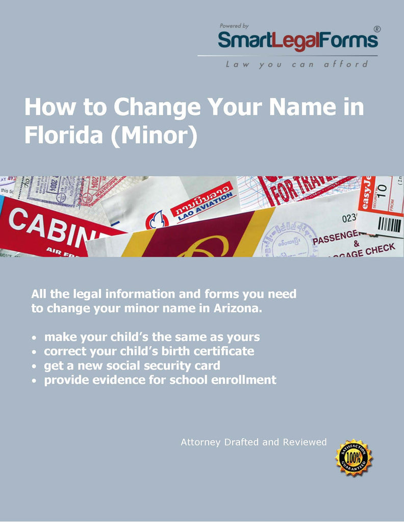 Change the Name of a Minor in Florida - SmartLegalForms