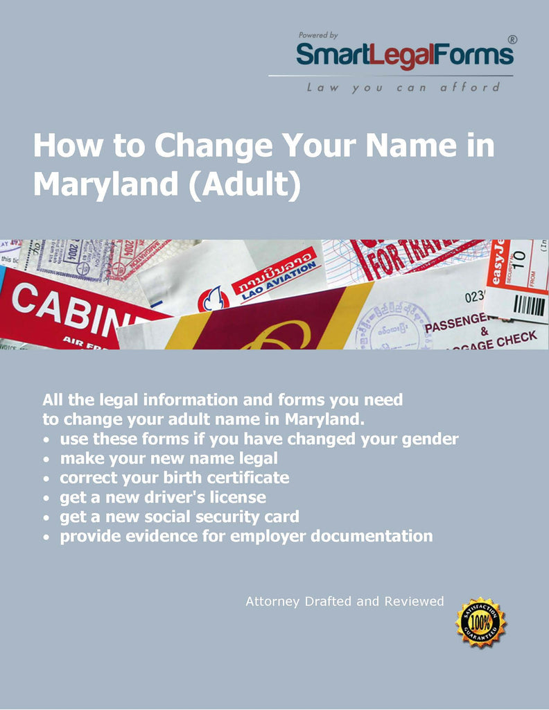 Maryland name change adult smartlegalforms smartlegalforms 1betcityfo Image collections