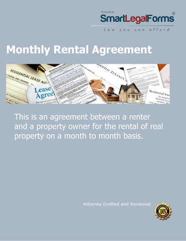 Monthly Rental Agreement - SmartLegalForms
