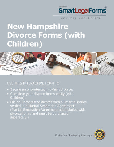 New Hampshire Divorce Forms with Minor Children - SmartLegalForms