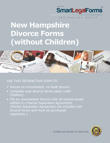 New Hampshire Divorce Forms with No Minor Children - SmartLegalForms