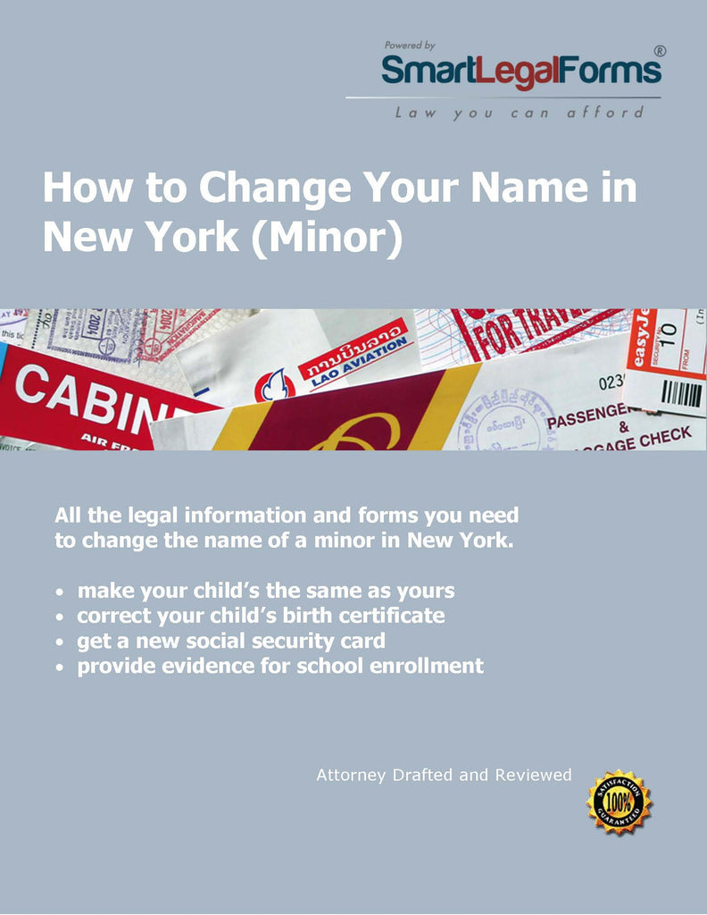 New York Name Change (Minor) - SmartLegalForms
