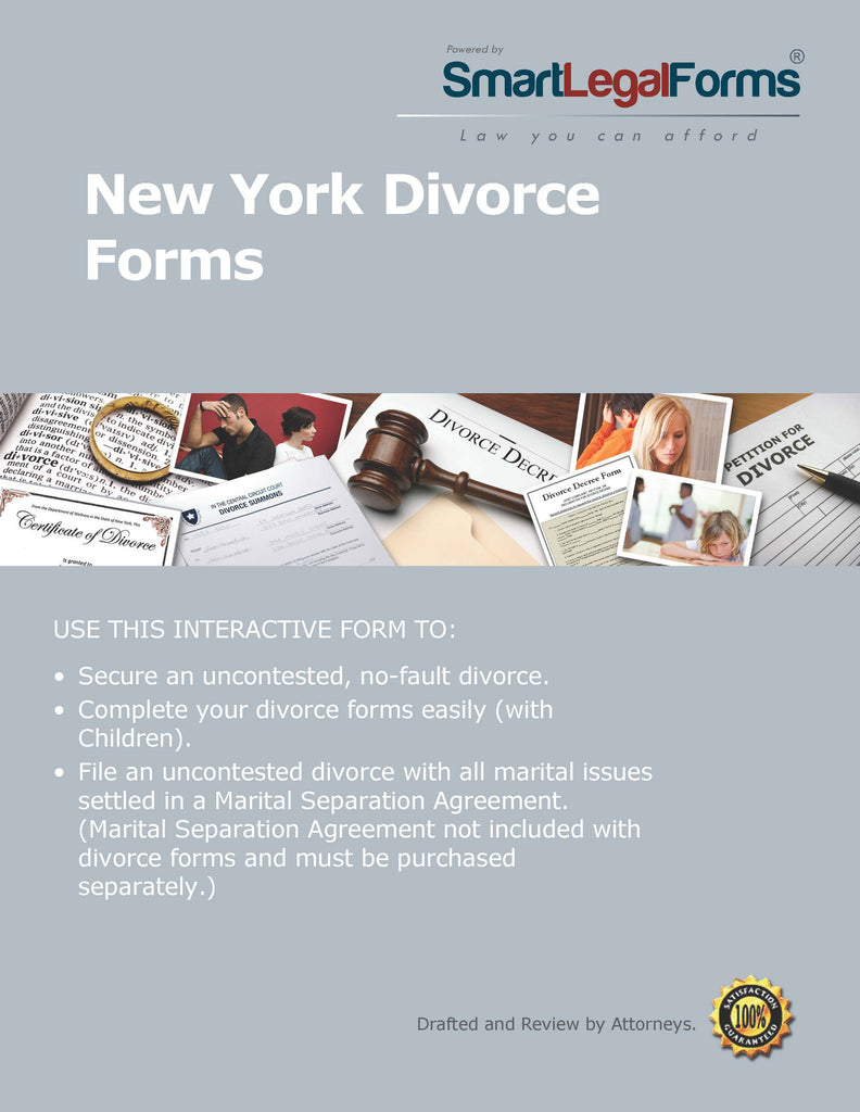 New York Divorce Forms - SmartLegalForms