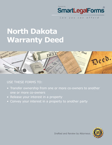 Warranty Deed - North Dakota - SmartLegalForms
