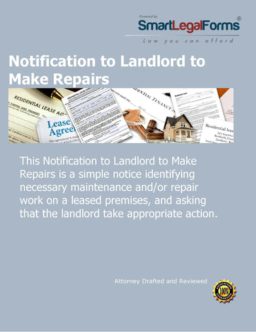 Notice to Landlord to Make Repairs - SmartLegalForms