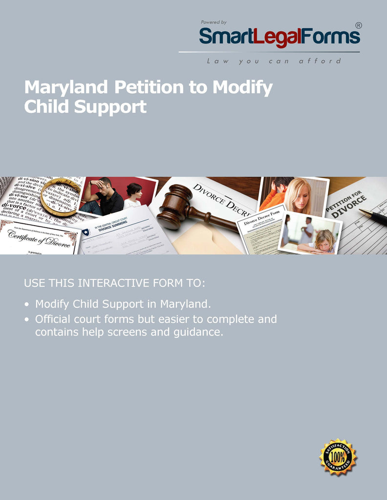 Maryland Petition to Modify Child Support - SmartLegalForms