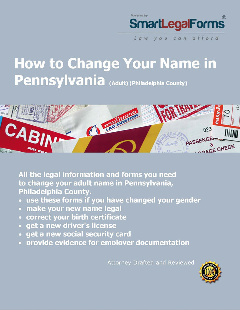 Change Your Name In Pennsylvania Adult Philadelphia