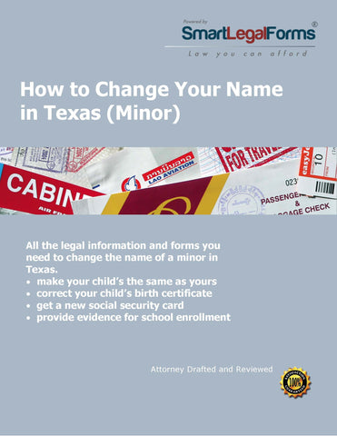 Texas Name Change (Minor) - SmartLegalForms