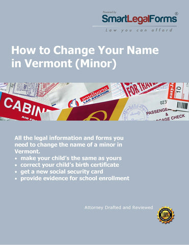 Vermont Name Change (Minor) - SmartLegalForms